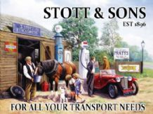 Stott and Sons Garage Metal Wall Sign (2 sizes)